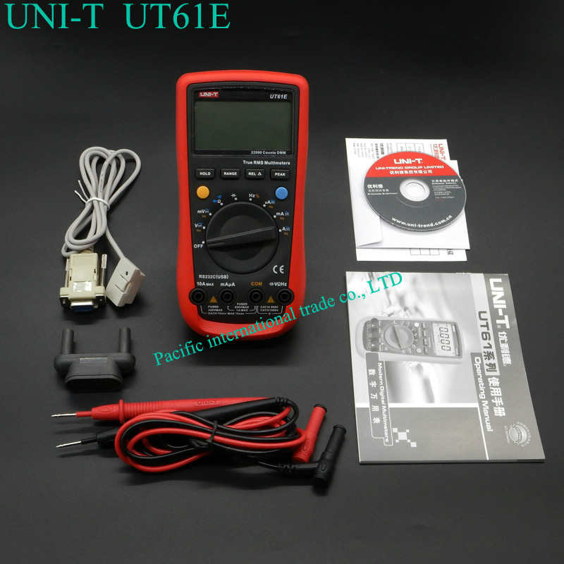 UNI-T UT61E High Reliability  Digital Multimeter Modern Digital Multimeters  AC DC Meter CD  & Data Hold Multitester uni t ut30c original authentic data handed hold digital multimeters temperature test
