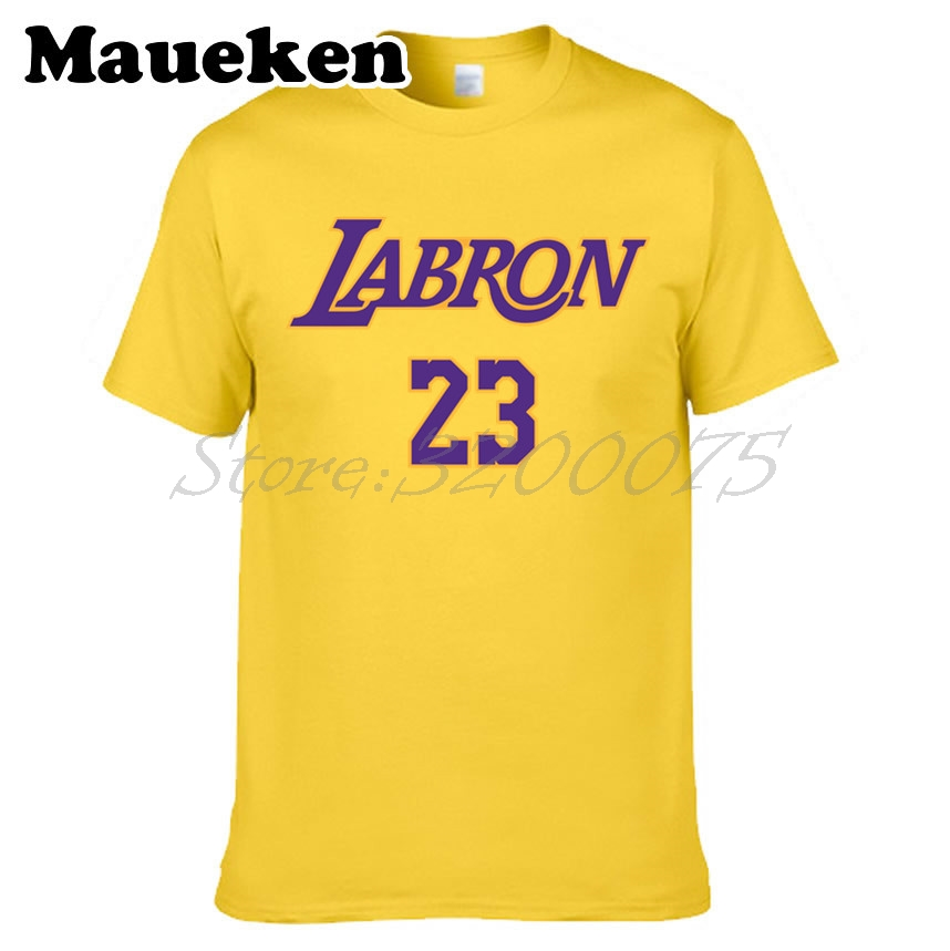 new product d6508 29a63 US $18.88 |Men KING LeBron James 23 LA LABRON Los Angeles T shirt Clothes T  Shirt Men's Tshirt For Fans Gift Tee W18070308-in T-Shirts from Men's ...