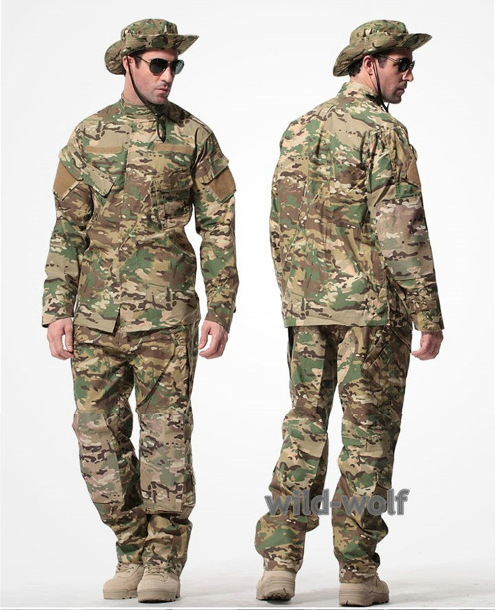 Military Tactical CP Multicam Camouflage Uniform Combat Airsoft  Shirt + Pants Multicam Uniforms  Army Uniform Suit Sets