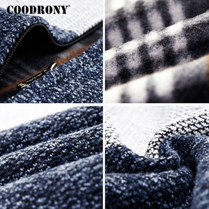 Image 5 - COODRONY Cashmere Wool Sweater Coat With Cotton Liner Zipper Coats Sweater Men Clothes 2018 Winter Thick Warm Cardigan Men H003