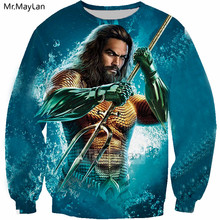 2018 New Design Movie Aquaman 3D Print Jackets Men/women Hiphop Streetwear Cool Hoodies Boy Hipster Fashion Clothes Man Tops 5XL