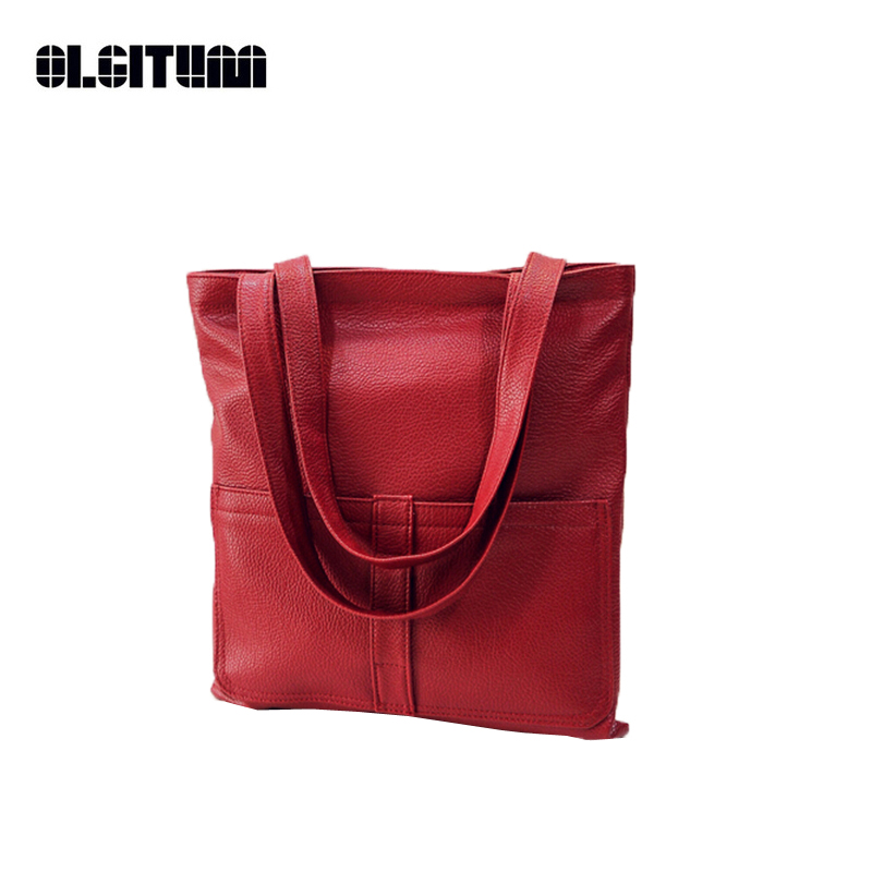 OLGITUM Candy Color Handbags New Vintage Medium High Quality Ladies Shopping Purses Famous Women Clutch Messenger Bags HB208