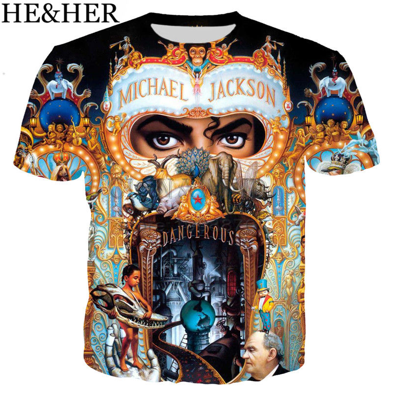 Women Men Casual T-Shirt 3D Printed Singer Michael Jackson Short Sleeve New Tops