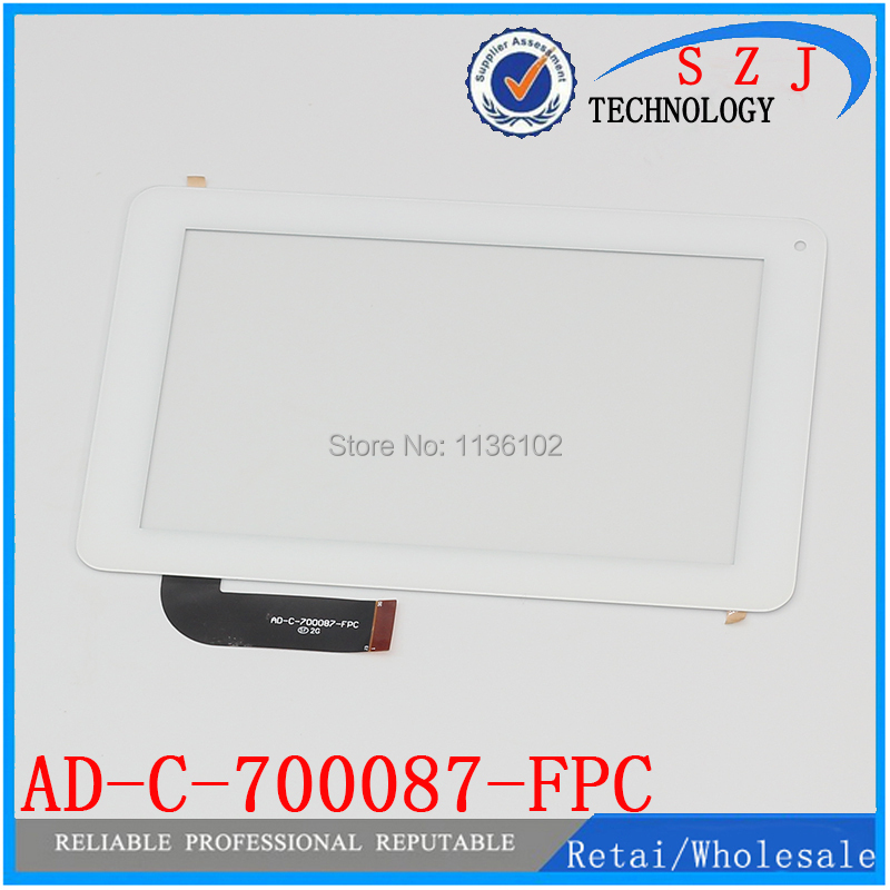 New 7 Inch Capacitive Touch Screen panel Digitizer Glass Replacement for screen AD-C-700087-FPC Free shipping black capacitive touch screen digitizer glass 9 7 inch tablet touch panel replacement ad c 971242 fpc free shipping