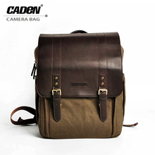 цена на CADEN Camera Bag DSLR Photo Vedio Backpacks Water-resistant Canvas Brown Storage Protetive Case for Sony GroPro Nikon Canon P5