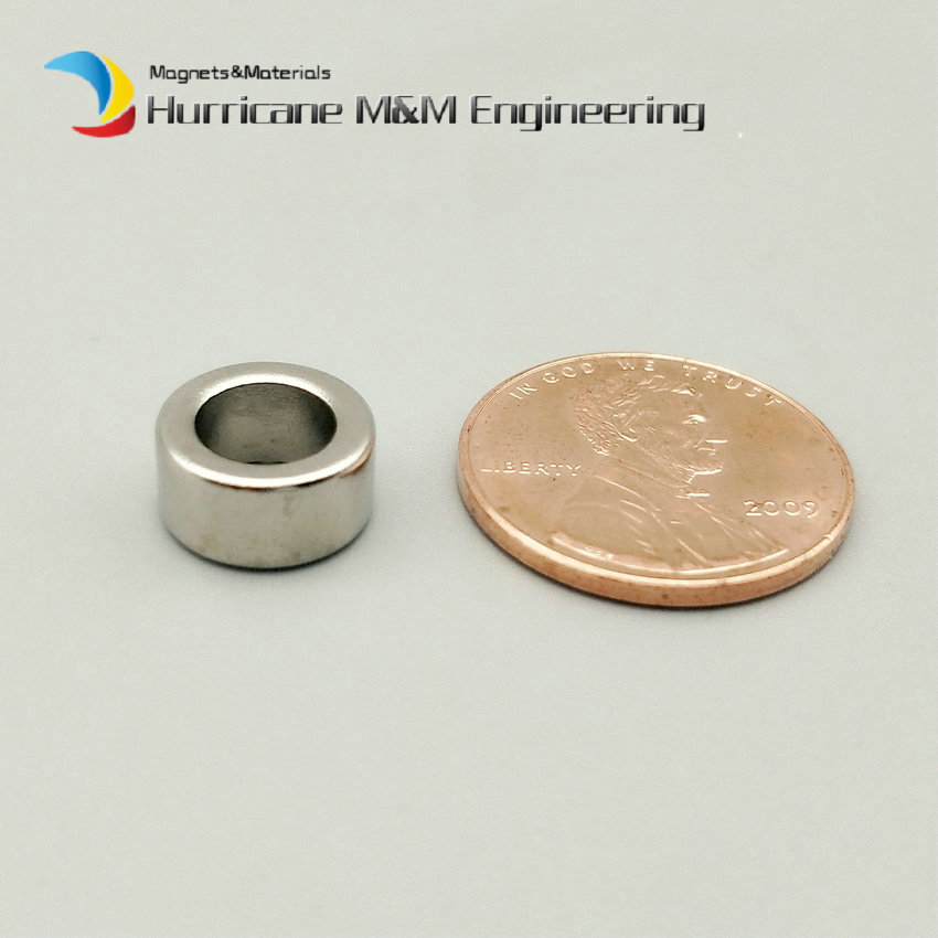 1 Pack NdFeB Magnet Ring OD 10x6x5 mm N38 Round Circle Tube Strong Neodymium Permanent Magnets Tube Rare Earth Magnets 1 pack ndfeb magnet ring od 50x38x8 mm diameter 2 round strong magnets axially magnetized nicuni coated rare earth magnet