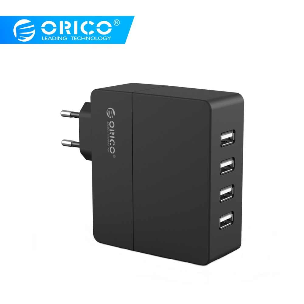 Orico 4 Port USB Charger 30W USB Travel Charger Dinding Charger untuk Ponsel Tablet