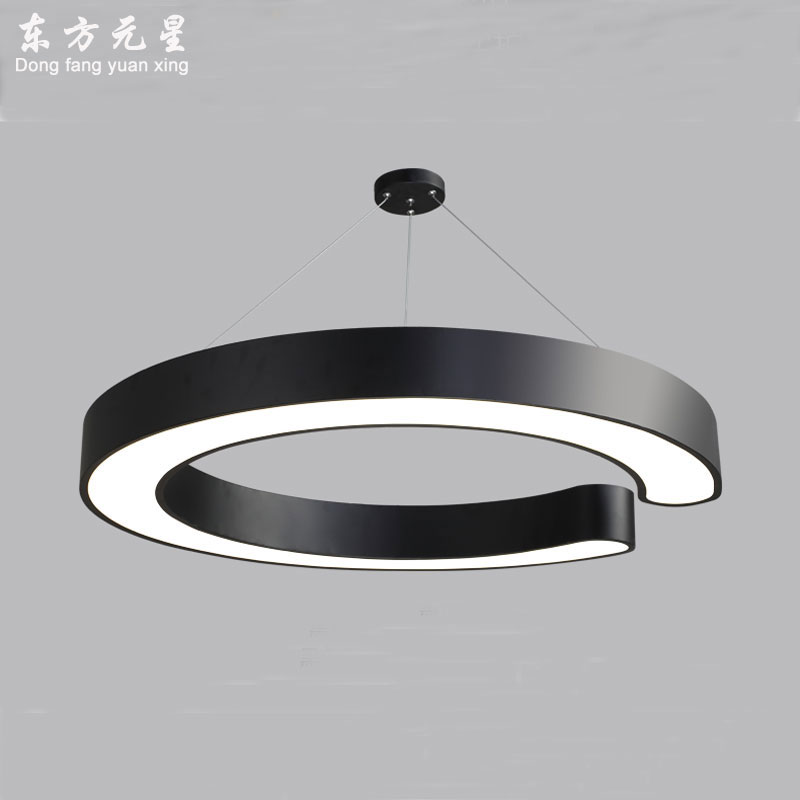 LED pendant light personality DIY letter C restaurant lamp conference room industrial style Interior decoration lighting