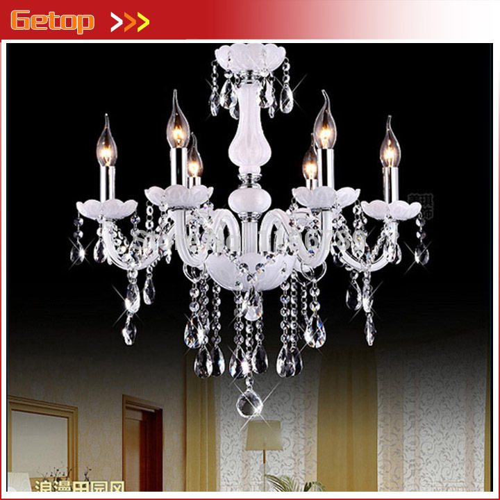 цена Modern Candle crystal chandelier K9 Crystal Candle lamp lustres de cristal lustres e pendentes light Living room bedroom Hall