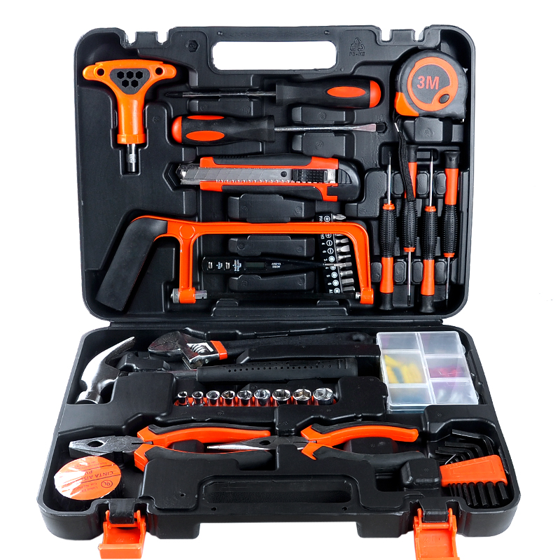 82 PCS combination of professional hardware tools hand tools household combination tool set 82 sets of household tool set hardware kit box set without a flashlight