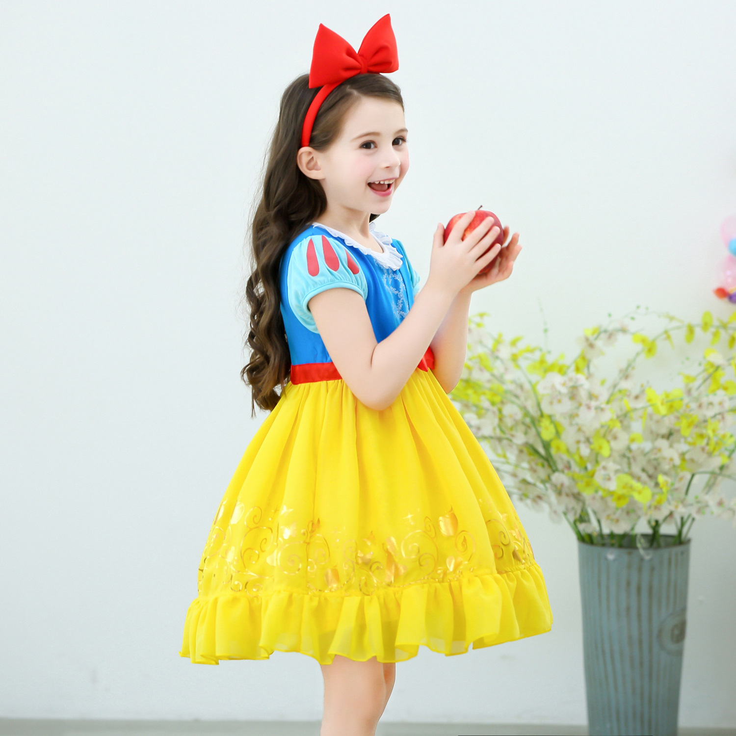 Infant Girls Christmas Snow White Princess Dresses Kids Cosplay Costume Halloween Clothes Toddler Party rapunzelDress for Girl 2