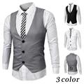 Amazon Quality Vest Men 2017 Spring Slim Brand Men's Slim Dress Business Suit Vest Men Gilet Fashion Waistcoats