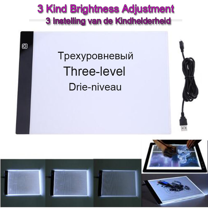 Digitale Tabletten lightpad A4 LED Graphic Künstler Dünne Art Schablone Zeichnung Bord Box Tracing Tabelle Pad Diamant malerei licht pad