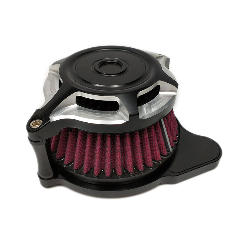 Motorcycle Parts Air Cleaner Intake Filter System Moto Air Filter Kits For Harley XL Sportster 1991 2014 2015 2016 2017 Aluminum in Air Filters Systems from Automobiles Motorcycles