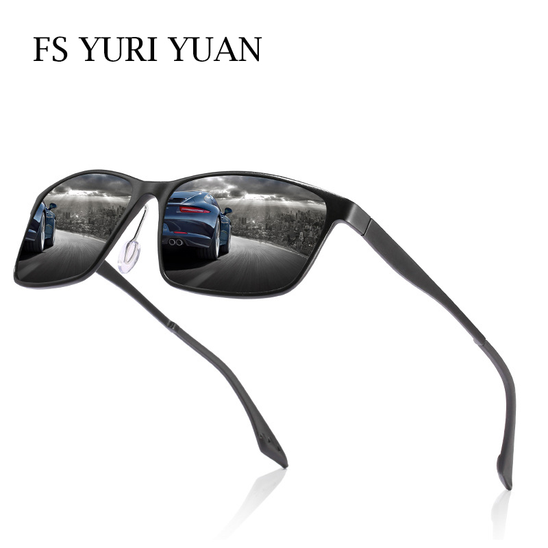 FS YURI YUAN Brand Men Fishing Glasses Polarized Aluminum Magnesium Frame Sport Sunglasses Male HD Drive F Eyewear 146