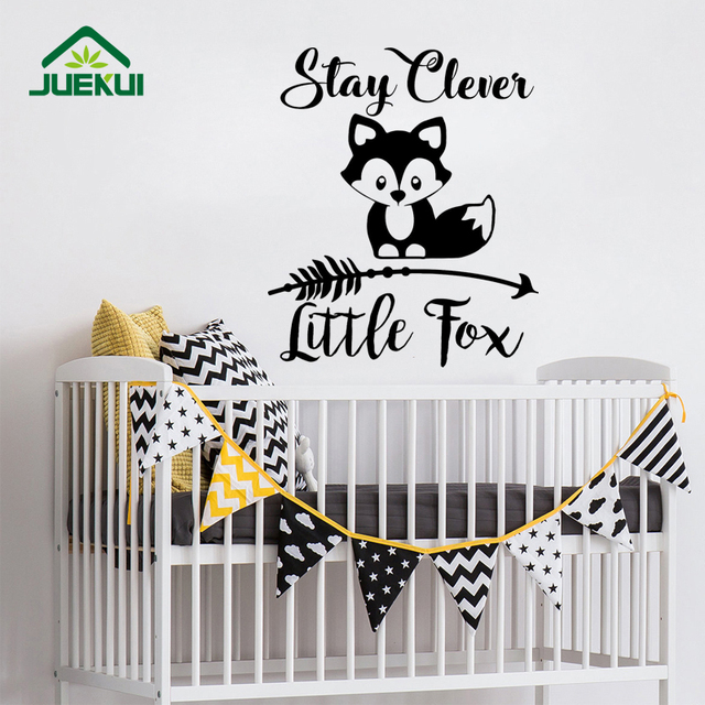 Stay clever little fox decoration wall decals nursery kids bedroom art decor vinyl wall stickers for