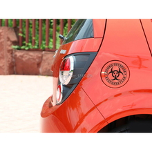 Zomble Outbreak Car Stickers and Decal Car Reflective  12 x 12 cm for Toyota Ford Chevrolet Volkswagen Honda Hyundai Kia Lada outbreak