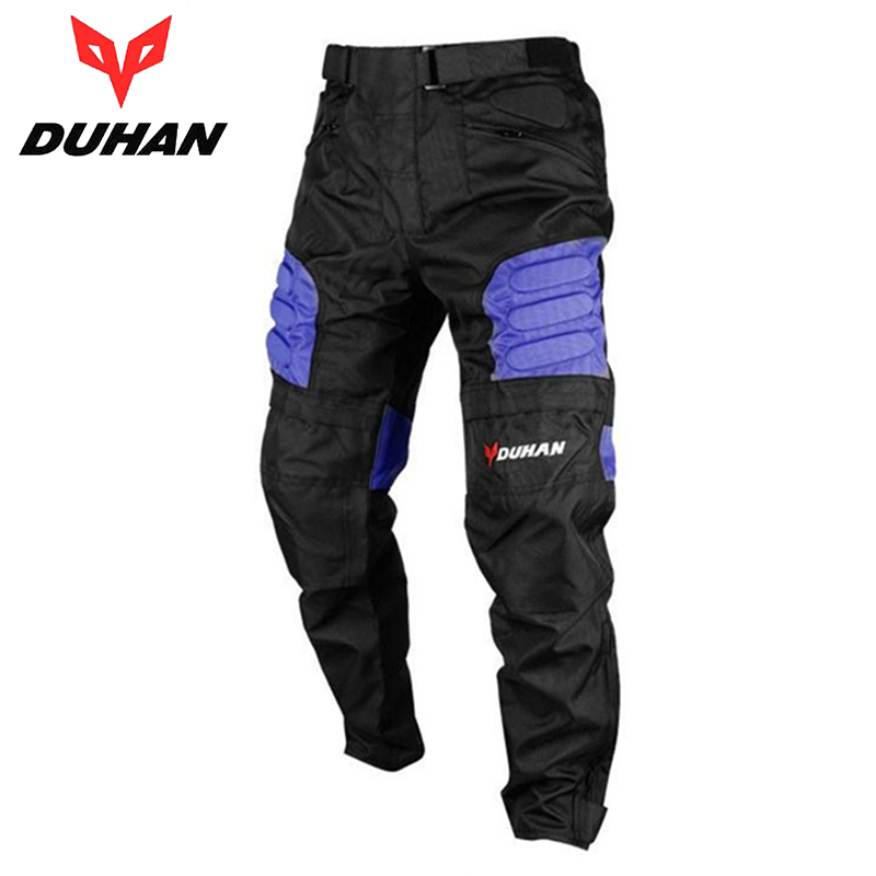 DUHAN Motorcycle Pants Mens Windproof Sports Pants Knee Protector Guards Racing Pants Oxford Cloth Riding Racing Trousers DK-02