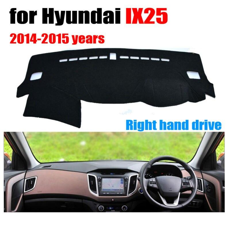 Tableau de bord de voiture mat cover pour Hyundai IX25 2014-2015 ans conduite à Droite dashmat pad dash couverture auto tableau de bord accessoires