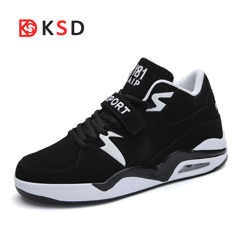 Men's Damping Air Cushion Basketball Shoes Breathable High Top Sneaker High Quality Antislip Soft Sport Running Shoes Size 46