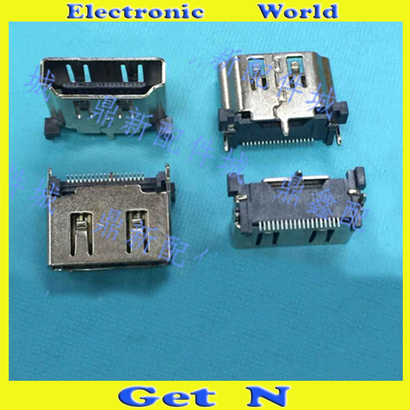 5pcs-300pcs    Vertical Type 3Pins 19Pins HDMI Female Connectors Jacks SMD Type 180Degree Fixed