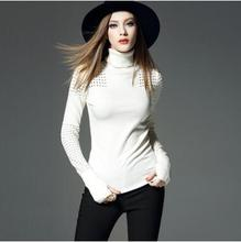 New Women Warm Winter Wool Pullovers Sweaters Solid Color Clothing Turtleneck Knitting Casual Clothes
