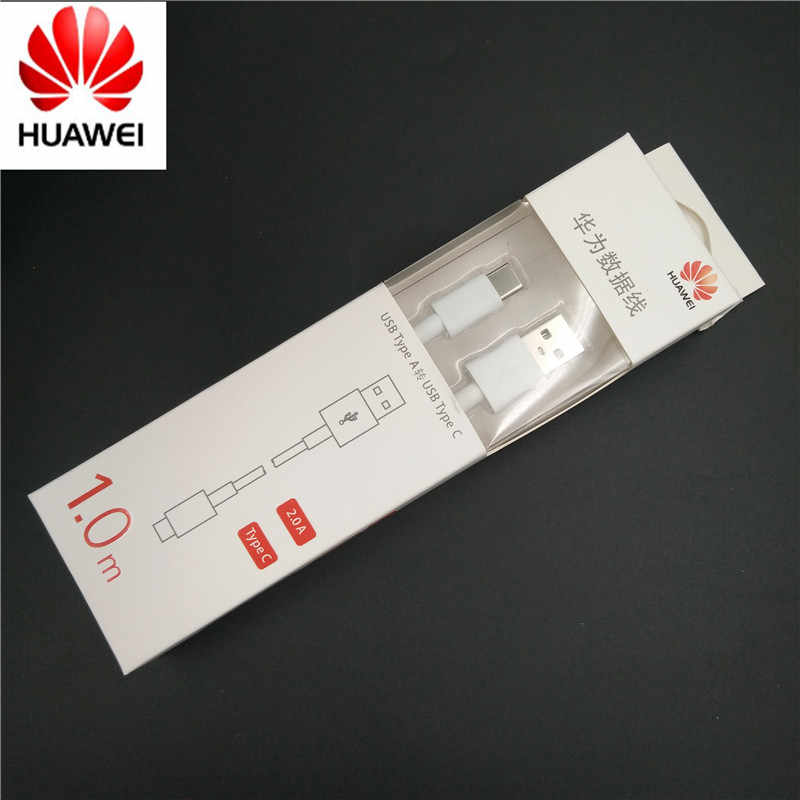 هواوي USB نوع C كابل 2A سريع تهمة مزامنة بيانات خط الشحن السريع 100 سنتيمتر نوفا 3/p20 لايت /زميله 10 لايت/الشرف 8 9/P9 الأصلي