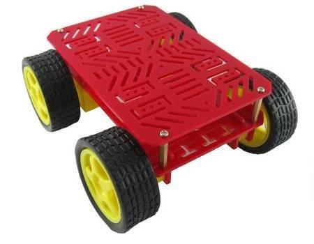 Magia carro 4wd chassis robô com 4 TT motor robô plataforma móvel
