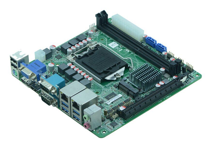 Chine Intel 6th Gen DDR4 i3 i5 i7 processeur nic ethernet ports double lan itx carte mère Q170 bureau mini carte PC 4 k