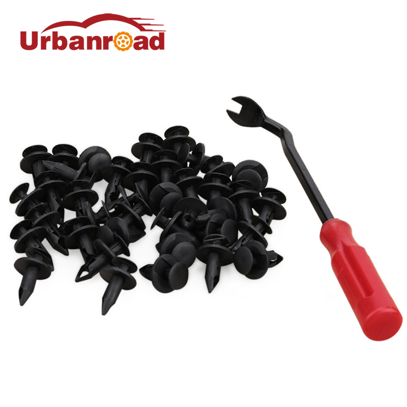 40PCS Auto Car Plastic Rivet Fastener Clip Auto Door Panels Vehicle Car Bumper Clips Fastening Retainer 8mm +1PC Fastener Tools battery for asus f5rl f5ri f5sl f5sr f5v f5 x50gl x50rl x50v x59sl x59sr a32 f5