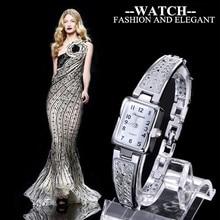 Women Vintage Luxury Gold + Silver Watches Elegant Quartz Fa