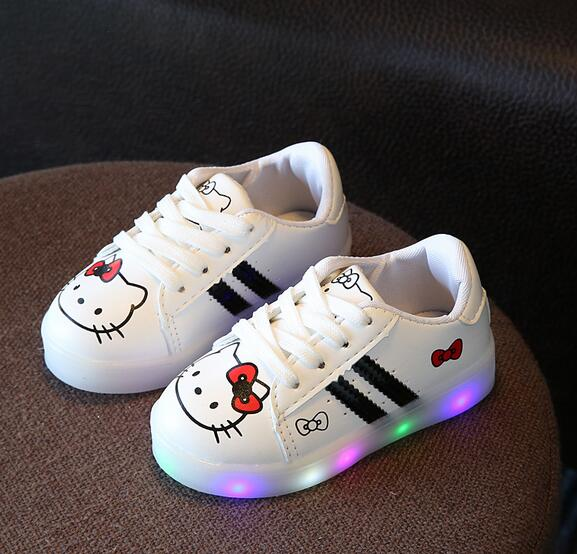 2017 New cartoon LED boys girls shoes Lovely lighting baby children shoes hot sales cool glowing casual kids sneakers lepine 06069 1346 pcs ninjagoe quake mech set jay kai a gang s model building blocks toys for children compatible legoe 70632