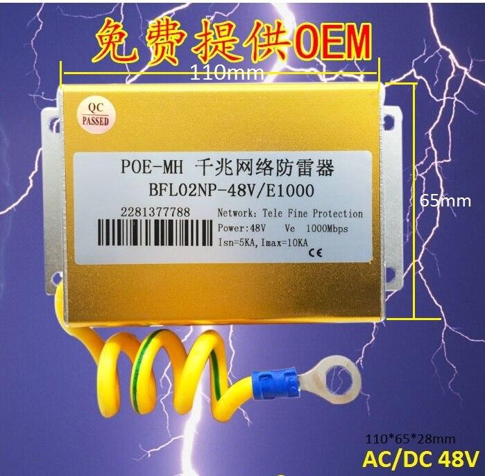 Ethernet Surge Protector for Gigabit and PoE/High PoE+ (HPoE) Ethernet Network LAN 48V Lighting Surge Suppressor/Arrester