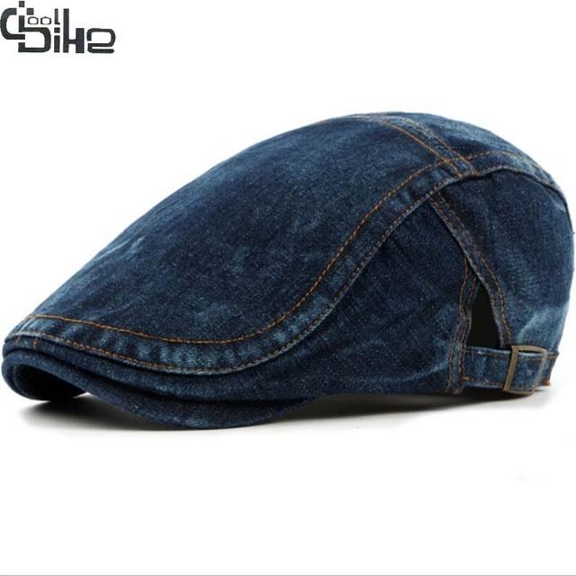 be62e4cc72f New Fashion Berets Hats Men Casquette Cap Classic Denim Spring Summer  Boinas Women Beret Hats Outdoor Visors Sun Caps Ajustable