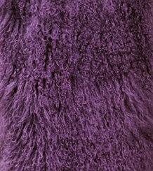 Настоящий монгольский овечий меховой воротник настоящий овечий мех шарф шарфы накидка шейный платок меховой шарф - Цвет: Фиолетовый