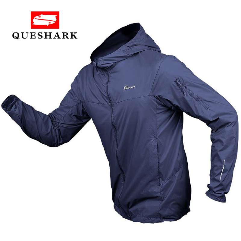 Queshark Summer Sun Protection Ultra-thin Quick Dry Tactical Camouflage Skin Clothes Men Sports Hiking Climbing Cycling Jacket