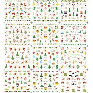 Image 3 - 12 قطعة/1 ورقة سانتا الثلج الأشجار الثلج عيد الميلاد عيد الميلاد ثلاثية الأبعاد مسمار الفن ملصقات موضة النساء لتقوم بها بنفسك مسمار الفن ملصق جديد