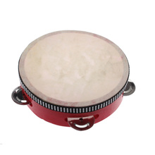 Hand Durm Kids Educational Toys Musical Instrument Mini Classroom Home School Hand Drum Children Tambourine Red