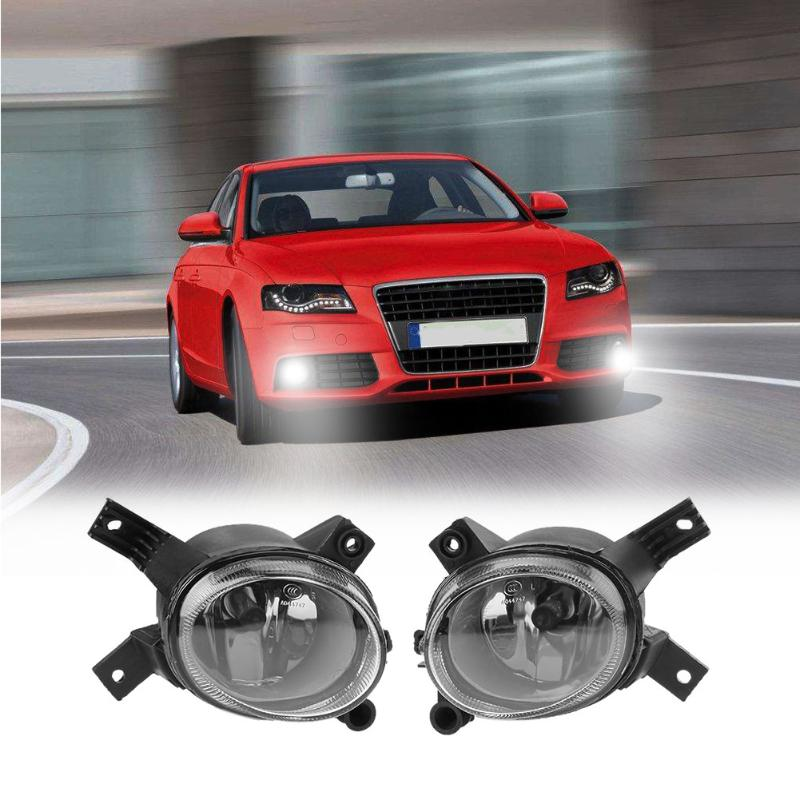VODOOL 1Pair Car Auto Pro Fog Driving Light Headlight Lamp Driver Side Headlight for Audi A4 B7 S4 Car Styling Accessories pair car 55w h11 front bumper driving fog light lamp for audi a4 b6 sedan 02 05 03 04