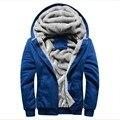 2017 nueva marca de lana gruesa cálido invierno abrigos sudaderas con capucha y de los hombres outwear polo chándales de ropa deportiva con capucha para hombres 5xl