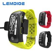 Lemdioe сердечного ритма Смарт браслеты GPS послужной список Smart Band 2 сна шагомер браслет Фитнес Трекер Смарт-часы Relogio