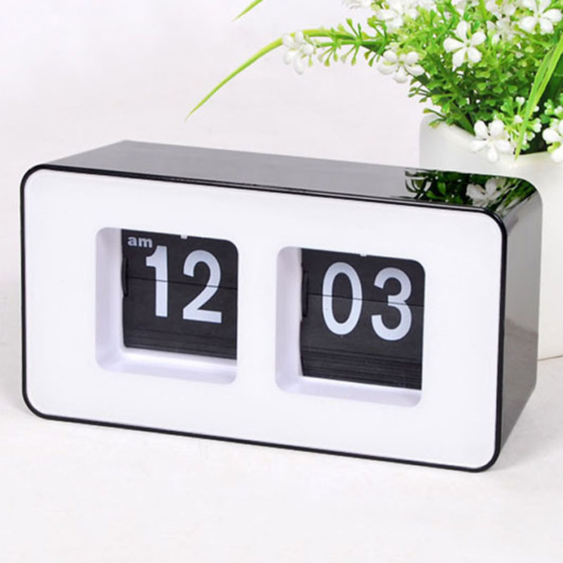 ba2db74299f Digital Table Clock Simple Modern Design Box Automatic Desktop Flip Desk  Clocks Kids Watch for Bedroom Home Decor