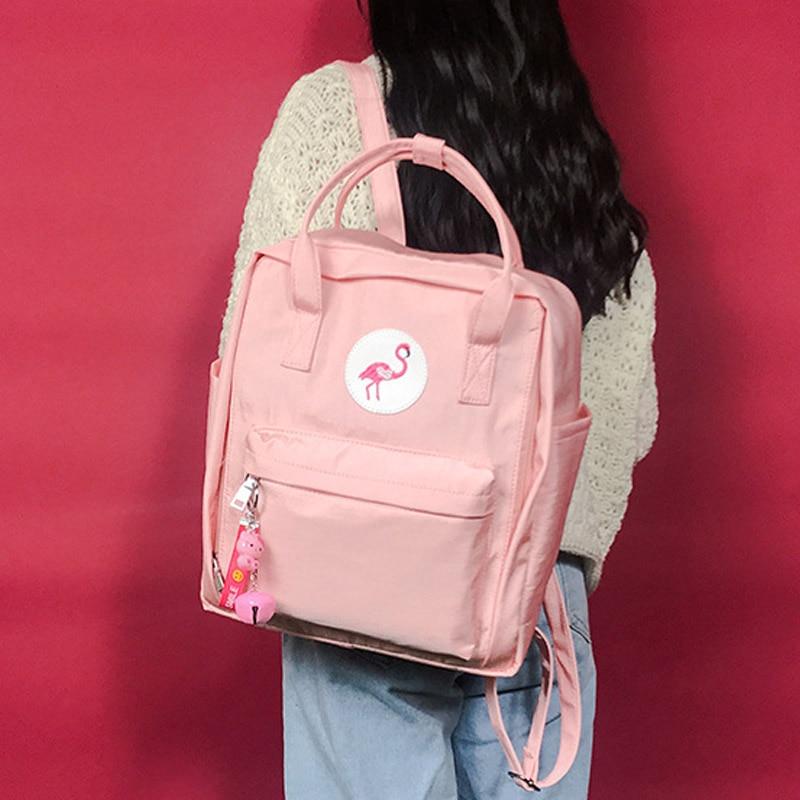 Portatile Borsa Chiaro Da Viaggio Nero Il Computer Adolescenti Del Flamingo verde Le Harajuku Ragazze Zaino colore Mochila Rosa Nero Libro Per Rosa Zaini Carino Studente grigio 5q4xa