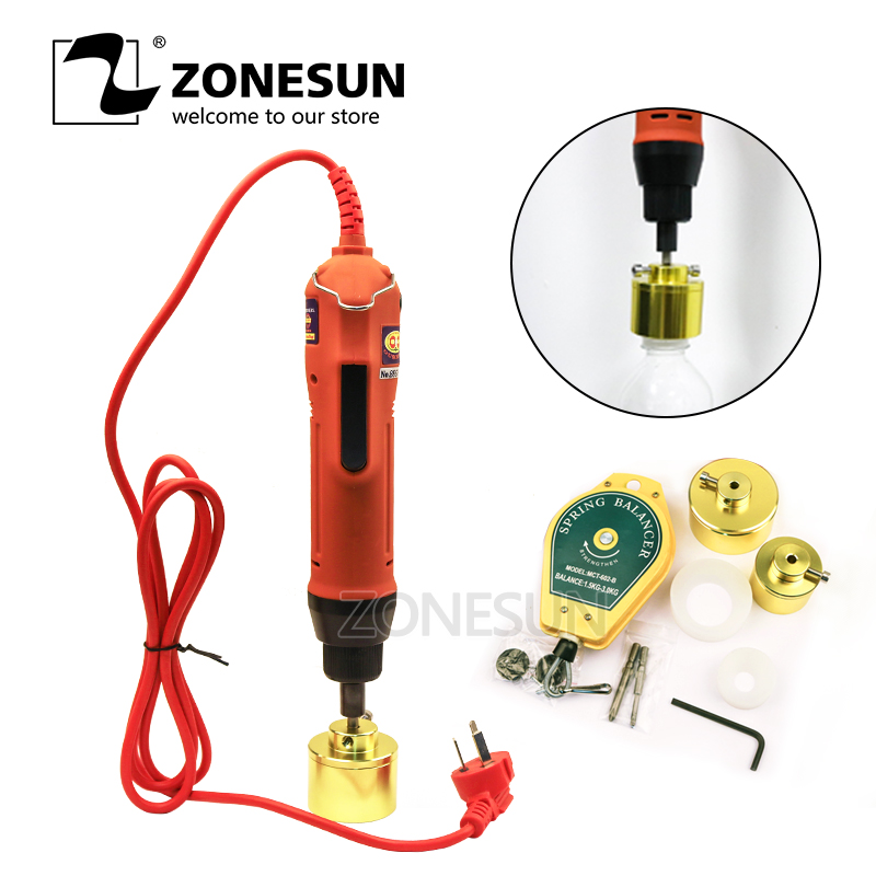 ZONESUN 100% Warranty SG-1550 Portable Electric Smoke Oil Bottle Capping Machine Cap Screwing Machine Electric Cap Sealing