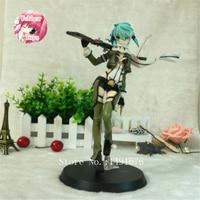 Sword Art Online Action Figure Asada Shino Anime PVC 22cm Toys Phantom Bullet AquaMarine