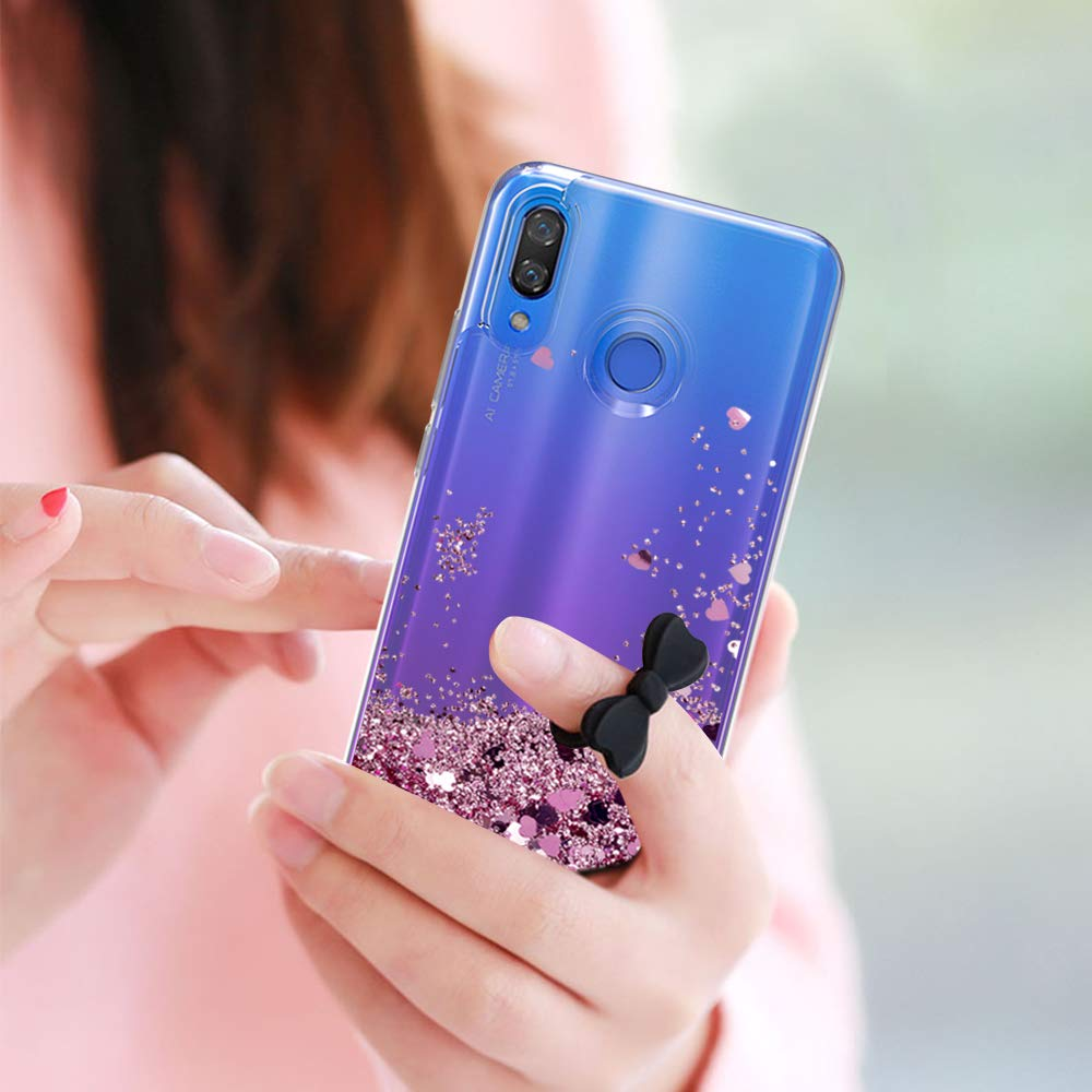 Glitter Liquid Case For Samsung Galaxy A30 A50 A70 Silicone Coque Samsung A30 A50 A70 Dynamic Qicksand Star Love heart Cover in Fitted Cases from Cellphones Telecommunications