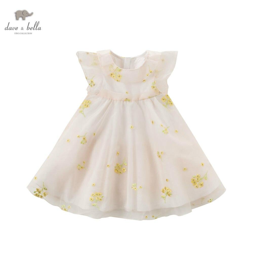 DB5228 dave bella summer baby girls princess dress childs floral dress kids wedding dress children dress