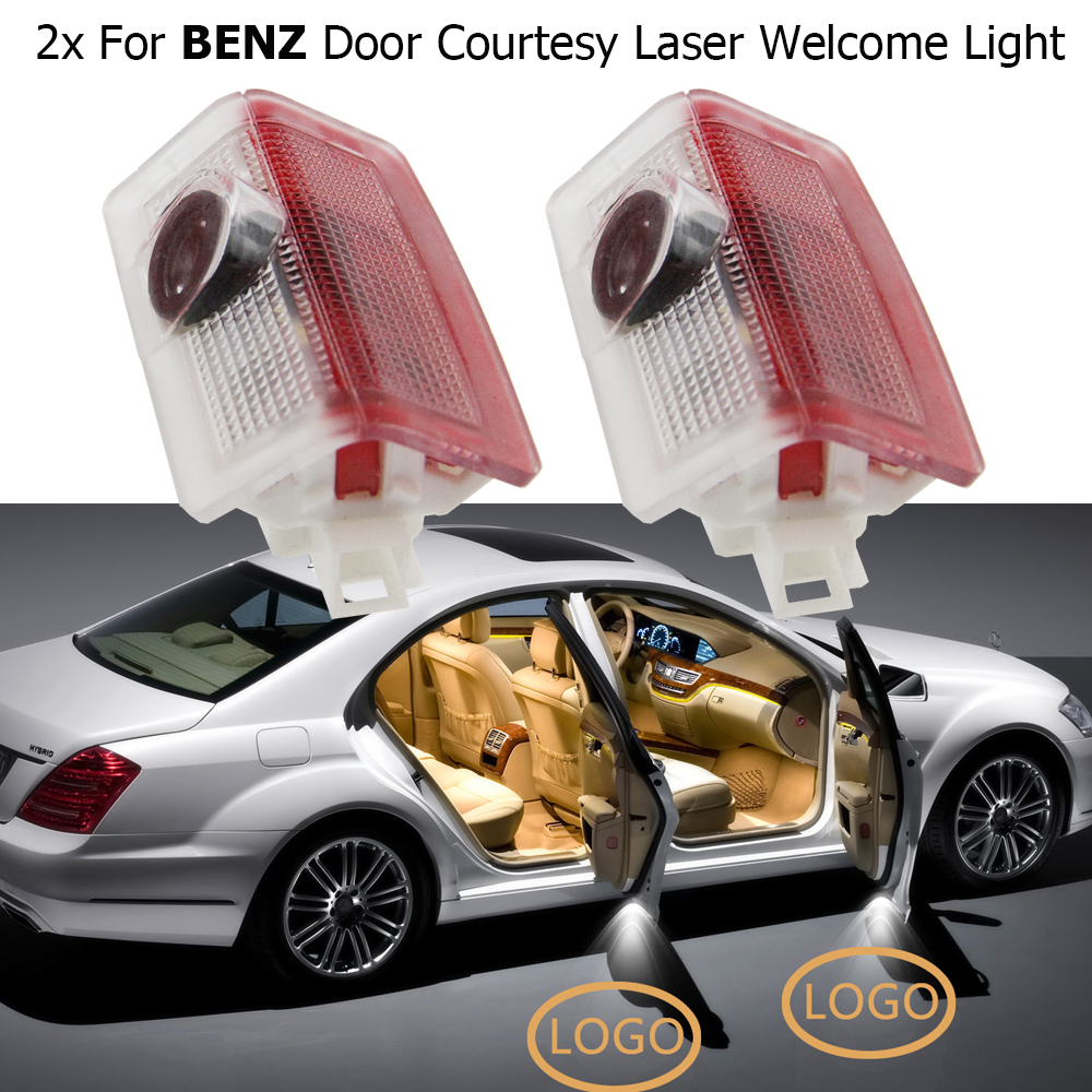 2x LED Logo Light Ghost Shadow Projector Car Step Door Courtesy Laser Welcome Light For BMW AUDI VW Mercedes-Benz Car Styling