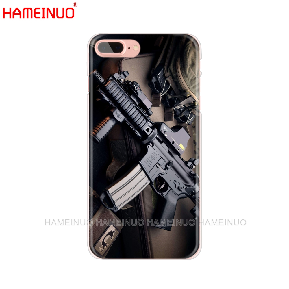Phone Bags & Cases For Iphone X 4 4s 5 5s 5c Se 6 6s 7 8 Plus Accessories Phone Cases Covers Rifles Guns Weapons Bullet Pattern