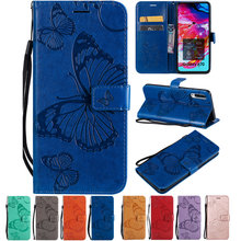 Butterfly Leather Case For Samsung Galaxy M30 M20 M10 A70 A60 A50 A40 A30 A20 A10 A8S A6S A40S A20E A2 Core Fundas(China)